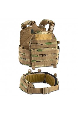 DEFCON 5 VEST CARRIER WITH BELT 1000 D-MULTI CAMO