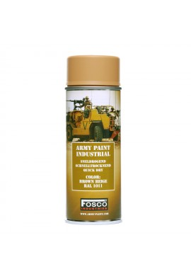 FOSCO Spray army paint 400 ml- Brown Beige Ral 1011
