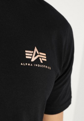 Alpha Industries T-Shirt Black/gold