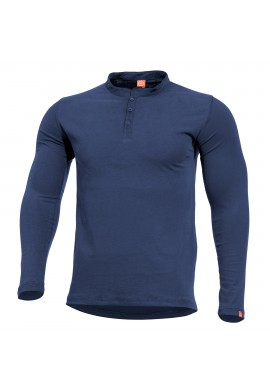 PENTAGON ROMEO HENLEY SHIRT MIDNIGHT BLUE
