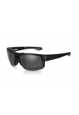 COMPASS Smoke Grey Matte Black Frame Eyewear