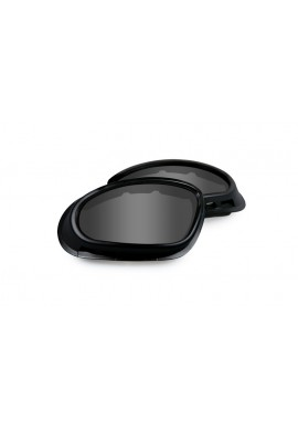 SG-1 Smoke/Clear Matte Black Frame Eyewear Mask