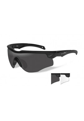 ROGUE Grey/Clear Matte Black Frame Eyewear