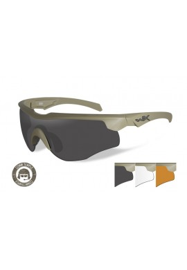 ROGUE COMM Grey/Clear/Rust Tan Frame Eyewear