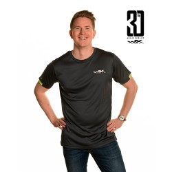 WX Active T-Shirt Charcoal w Flash Green