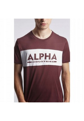 Alpha Industries Inlay T Κοντομάνικο-deep maroon