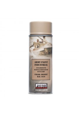 Spray army paint 400 ml-desert RAL 1019